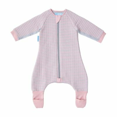 The Gro Company Groromper Cosy Pink Stripe - Playsuit & Sleepsuit - 12-24 Months