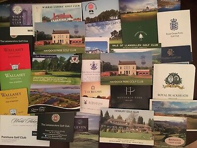29 UK Golf Scorecards