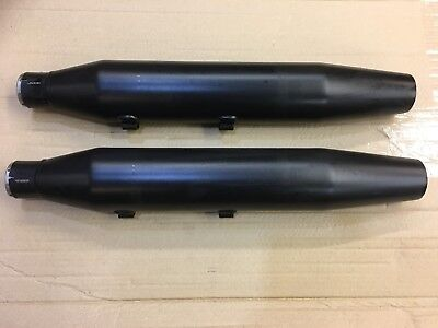 #NEW# Pair Harley Sportster Crinkle Black Exhaust Silencer Muffler 2018 Iron 48