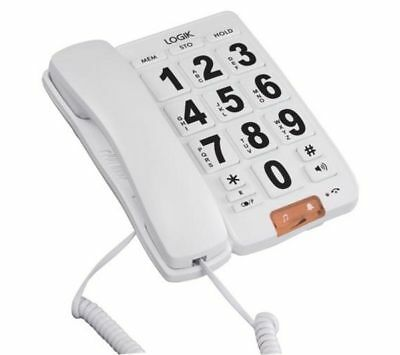 LOGIK L05CBIG10 Corded Phone with Big Buttons
