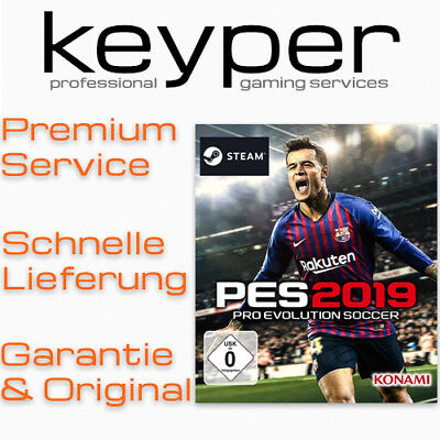 PRO EVOLUTION SOCCER 2019 [Deutsch/Multi15] Steam Key Code PC Neu & Original