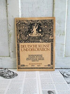 Vintage German Art Nouveau Magazine - Deutsche Kunst Und Decoration - 1932