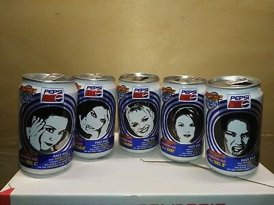 All Five Spice Girls Diet Pepsi Cans from Italy