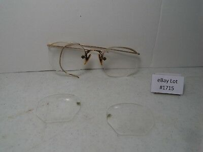 (Lot #1715) Vintage American Optical 12K Gold Filled Eyeglasses Parts Lot