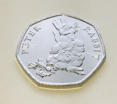 Peter Rabbit - Beatrix Potter 50p Fifty Pence coin 2018 - Uncirculated