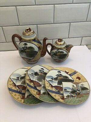 Vintage Chinese Teapot, Coffee Pot, Cups, Side Plates.