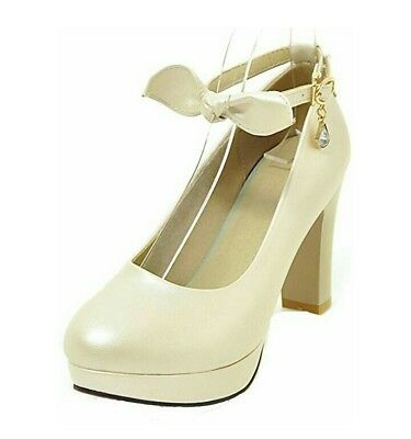 Schuhe 38 Damen Pumps Highheels Beige Creme
