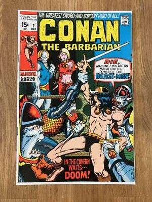 Conan the Barbarian #2 (Dec 1970, Marvel) - Higher Upper Middle Grade - Lot 40