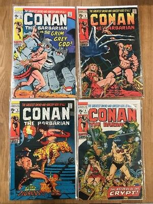 Conan The Barbarian 3,4,5,8 - Mostly Higher Mid Grade - Lot 41