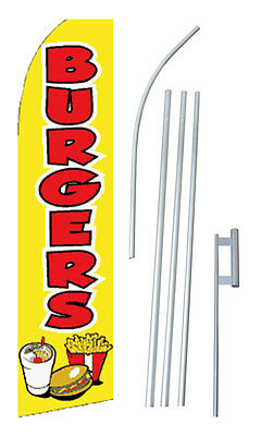 15 Ft. BURGERS SWOOPER / BLADE / FEATHER  Flag KIT - USA SELLER  sw10109