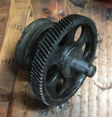 "Vintage Industrial Gear 3"" Cast Iron Steel Sprocket & Pulley Steampunk"