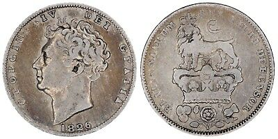 1826 George IV sixpence Great Britain silver coin