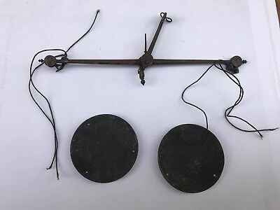 Vintage Steel & Brass Hand Balance Scales, Very Old.