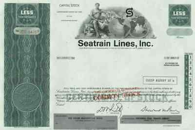 Seatrain Lines Delaware New Orleans Savannah Texas City 1970 Overseas Railway