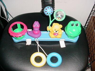 Kids II Bright Starts Toy Tray with Toys for Strollers and or Car Seats