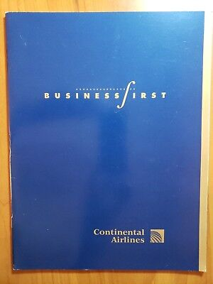 Continental Airlines   Business First Booklet-in Spanish---3 post cards----HNL-N