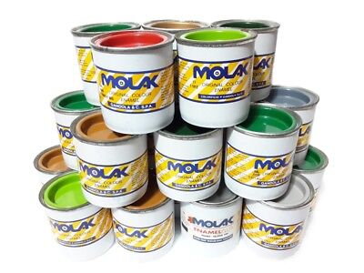 COLORI SMALTI MOLAK ENAMEL 180 ml GANDOLA MATT GLOSS SATIN METALLIC X MODELLISMO