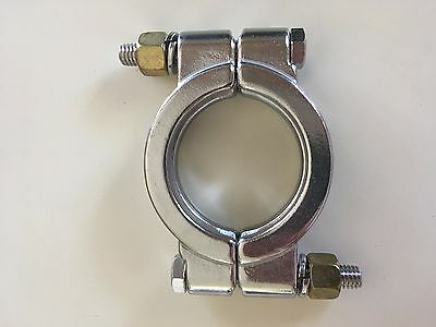 """HFS 2"""" Sanitary Clamp - High Pressure - Tri Clamp Clover Stainless Steel"""