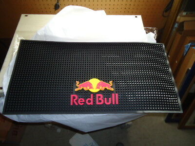 LG RED BULL ENERGY DRINK Beer Bar Mat NEW MINT CONDITION