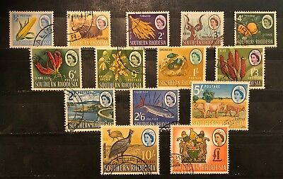 Southern Rhodesia 1964 Definitive Complete Set Fine Used Sg 92-105