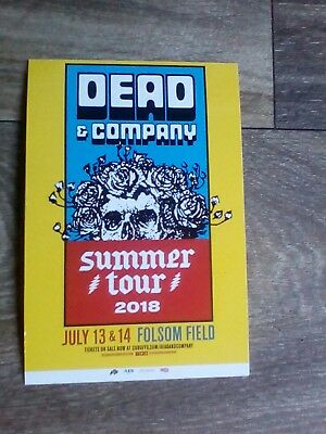 dead company poster,folsom field Boulder Co 2018, postcard poster.