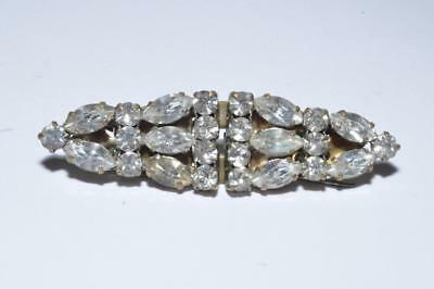 Beautiful Vintage Art Deco Double Dress Clip Duette Brooch