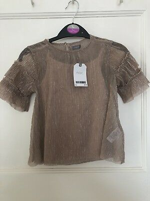 Brand New With Tags!! Girls Next Shimmer Two Piece Top. Age 5. RRP £14.00