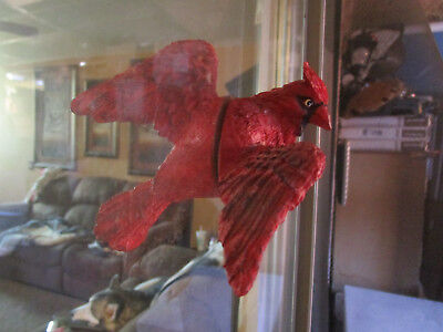 Unique Clark Collection Red Cardinal Fly through Window Magnet,Red magnetic