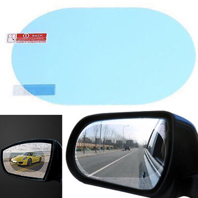 2Pcs Oval Car Auto Anti Fog Rainproof Rearview Mirror Protective Film Accessory