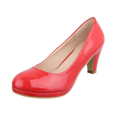 Damenschuhe Pumps WOW Plateau 9718 Rot 38