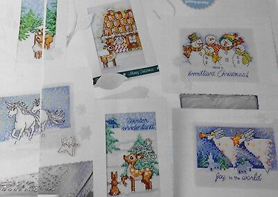 Stickvorlage,Point de Croix,Durene Jones,Winterwonderland,6 Motive,Rehe,Engel...