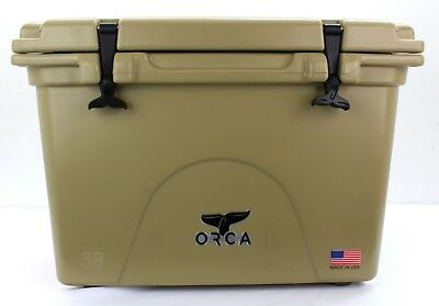 NEW ORCA ORCT058 TAN COLORED 58 QUART INSULATED ICE CHEST COOLER USA 3450012