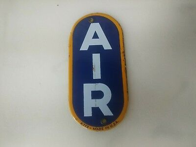 Sunoco Eco Air Meter AIR Porcelain Sign A773 Made in the U.S.A. Not a REPO.