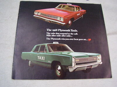 1968  Plymouth Taxi  Brochure
