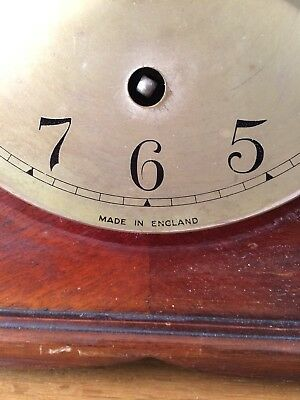 Garrard Walnut Quarter Chiming Mantle Clock