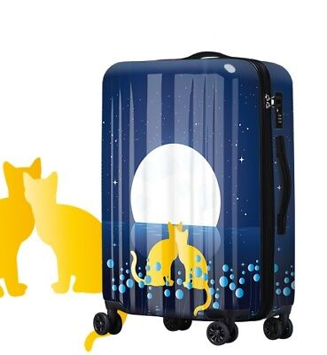 D564 Cartoon Cat Universal Wheel ABS+PC Travel Suitcase Luggage 28 Inches W