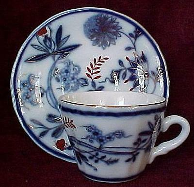 Flow Blue Demi Cup & Saucer, Royal Danube-FREE SHIPPING!
