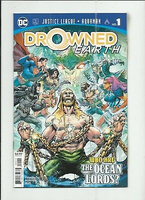 Justice League/Aquaman: Drowned Earth #1 very fine+ (VF+) condition