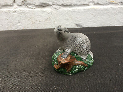 Beswick Badger Whisky miniature flask whiskey
