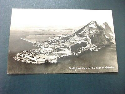 Old Postcard South East View of the Rock of Gibraltar Black & White