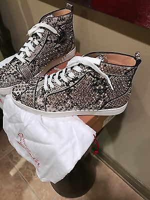 53b124a0497 100% AUTHENTIC CHRISTIAN LOUBOUTIN PYTHON SNEAKER sz46 (US13) RARE & LIMITED