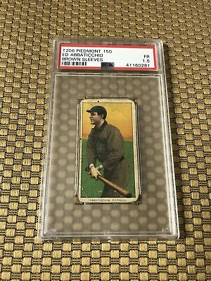 T206 Piedmont 150 Ed Abbaticchio Brown Sleeves Psa 1.5 Fr  Pittsburgh