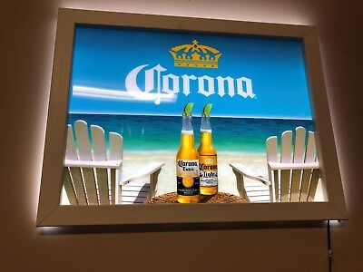 Corona Beer Framed LED Sign - NEW in original box. - Great Collectible