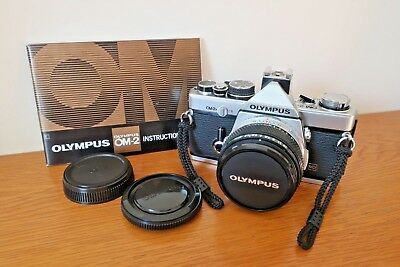 Olympus Om2n SLR. 50mm f1.8 lens. Superb Condition.