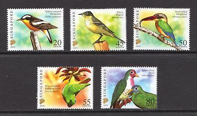 Singapore 2007 Birds - 5 MNH values - Cat £8.25 - (216)