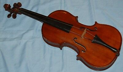 Beautiful Old Antique Violin with bow and case - Striped Tiger Eye Back