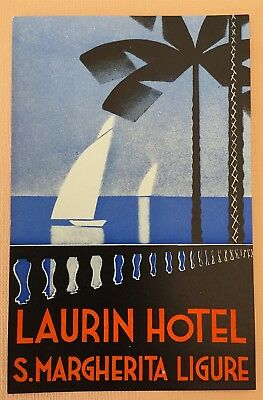 Hotel Luggage Label Laurin, S. Margherita, Ligure - Italy