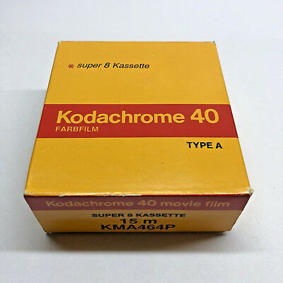Kodak Kodachrome 40 Super 8 Movie Film Kassette Cartridge NOS 1995 Lomo COOLED!