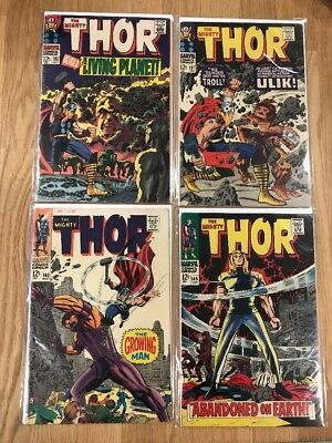 The Mighty Thor - #133, 137, 140, 145 - Silver Age - Lot #43 - Lower Mid Grades