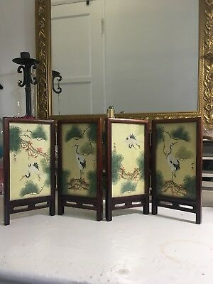 Japanese Hand Painted Silk Screen